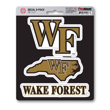 Picture of Wake Forest Decal 3-pk