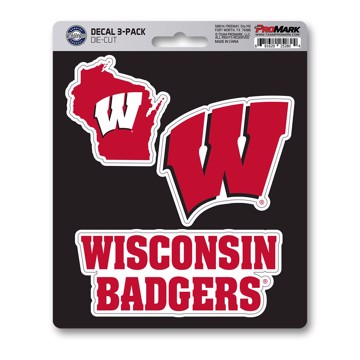 Picture of Wisconsin Decal 3-pk