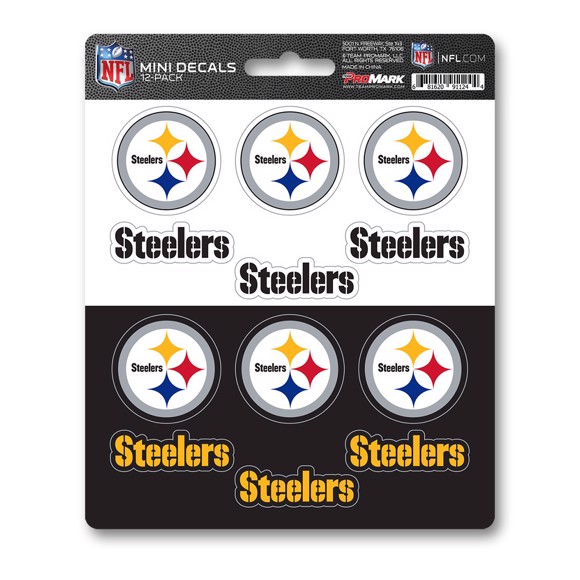 Picture of NFL - Pittsburgh Steelers Mini Decal 12-pk