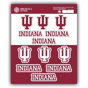 Picture of Indiana Mini Decal 12-pk