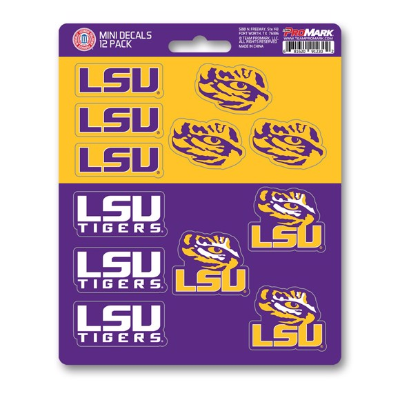 Picture of LSU Mini Decal 12-pk
