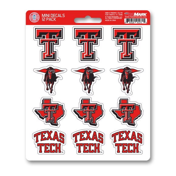Picture of Texas Tech Mini Decal 12-pk