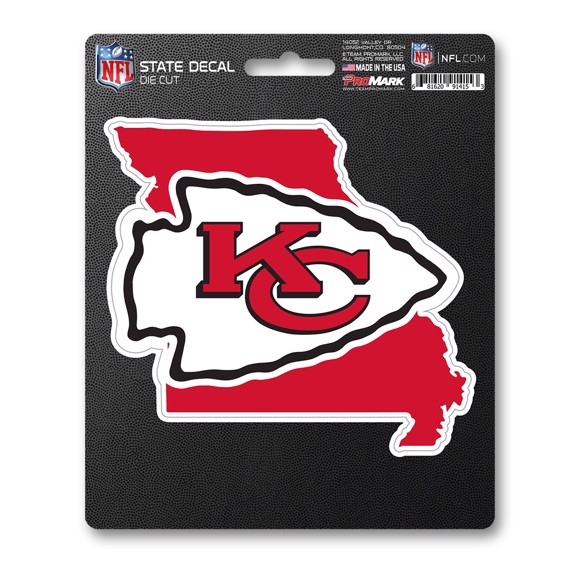 Picture of NFL - Kansas City Chiefs State Shape Decal
