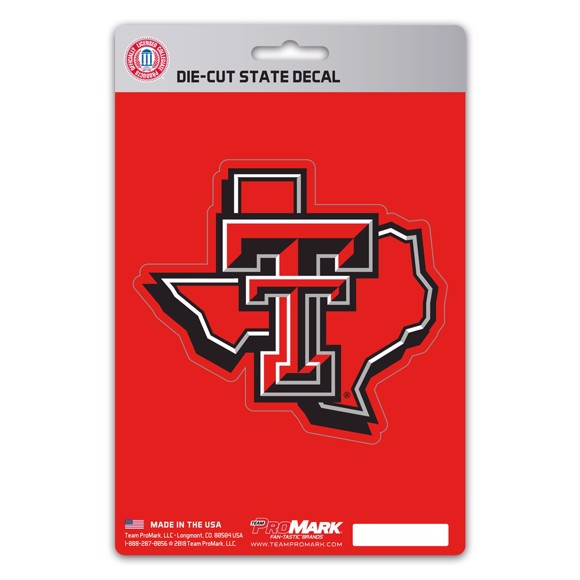 Picture of Texas Tech State Shape Decal