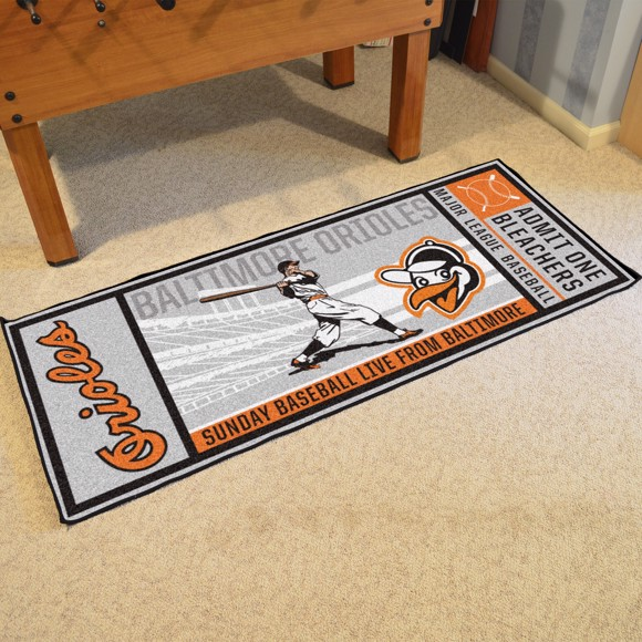 Picture of MLB - Baltimore Orioles Retro Ticket Runner