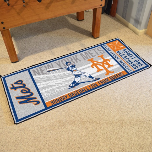 Picture of MLB - New York Mets Retro Ticket Runner