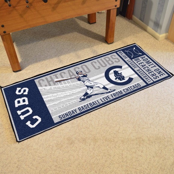 Picture of MLB - Chicago Cubs Retro Ticket Runner