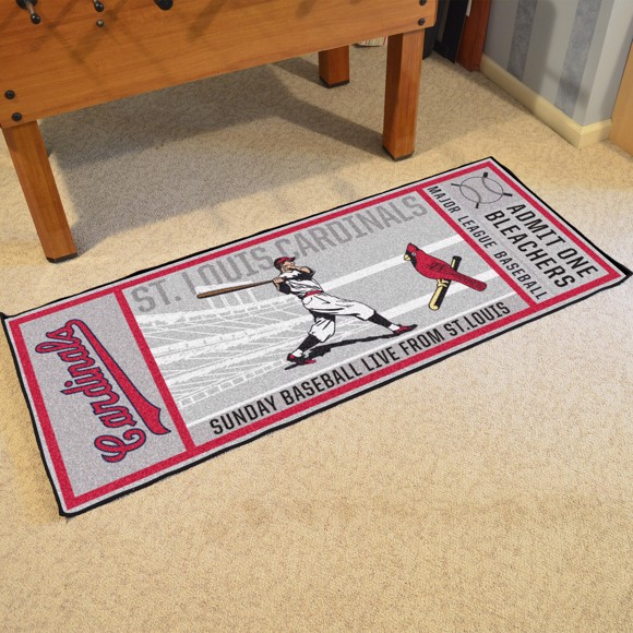 Picture of MLB - St. Louis Cardinals Retro Ticket Runner