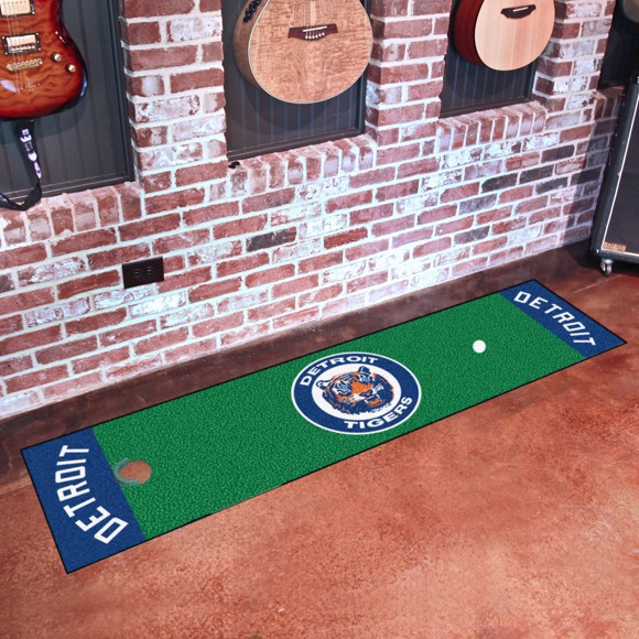 Picture of MLB - Detroit Tigers Retro Putting Green Mat