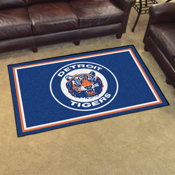 Picture of MLB - Detroit Tigers Retro 4x6 Rug