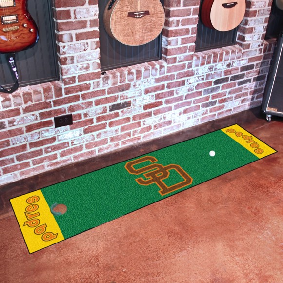 Picture of MLB - San Diego Padres Retro Putting Green Mat