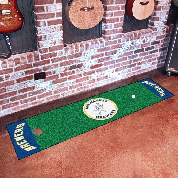 Picture of MLB - Milwaukee Brewers Retro Putting Green Mat