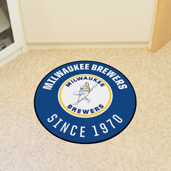 Picture of MLB - Milwaukee Brewers Retro Roundel Mat