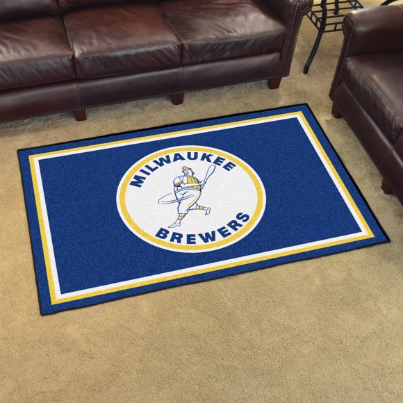 Picture of MLB - Milwaukee Brewers Retro 4x6 Rug