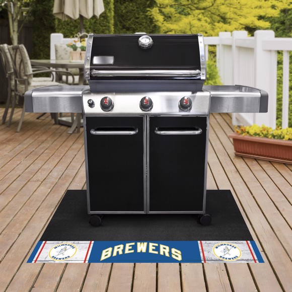 Picture of MLB - Milwaukee Brewers Retro Grill Mat