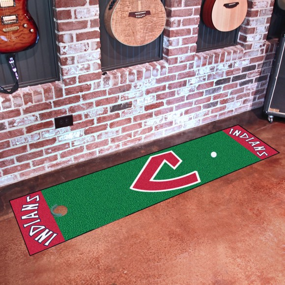 Picture of MLB - Cleveland Indians Retro Putting Green Mat