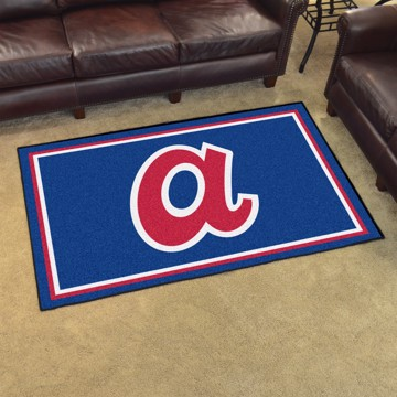 Picture of MLB - Atlanta Braves Retro 4x6 Rug