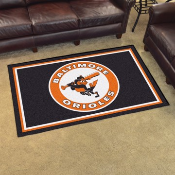 Picture of MLB - Baltimore Orioles Retro 4x6 Rug