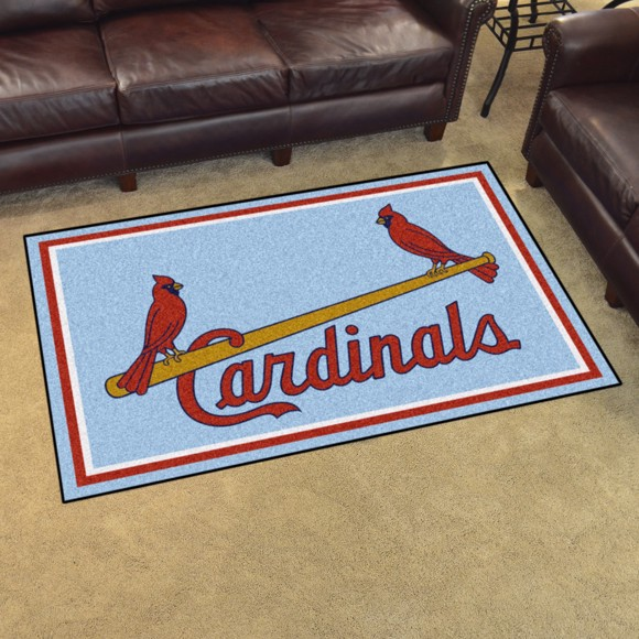 Picture of MLB - St. Louis Cardinals Retro 4x6 Rug