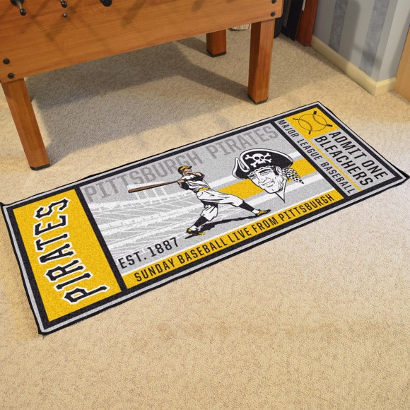 Picture of MLB - Pittsburgh Pirates Retro Ticket Runner