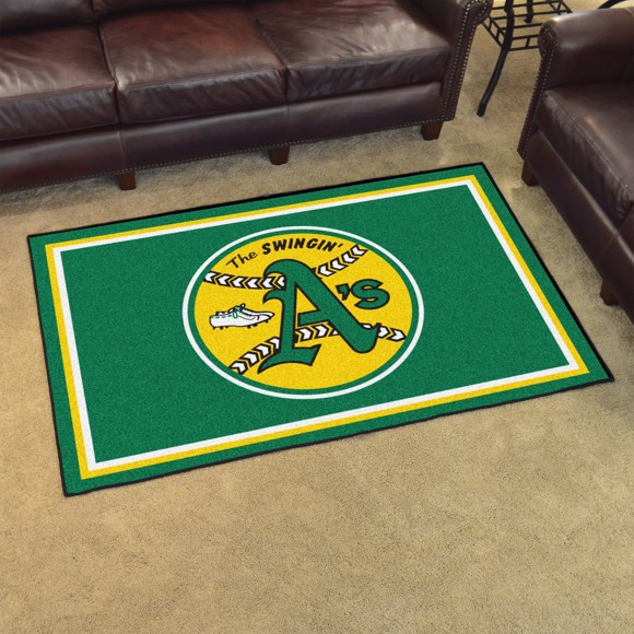 Picture of MLB - Oakland Athletics Retro 4x6 Rug