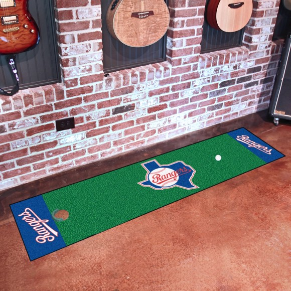 Picture of MLB - Texas Rangers Retro Putting Green Mat