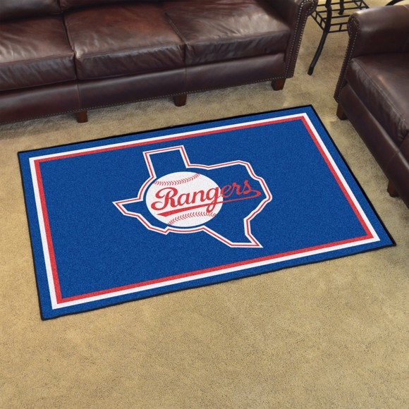 Picture of MLB - Texas Rangers Retro 4x6 Rug