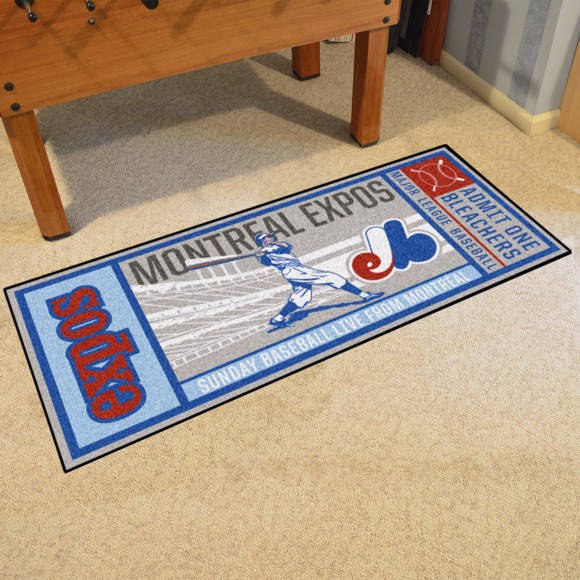 Picture of MLB - Montreal Expos Retro Ticket Runner