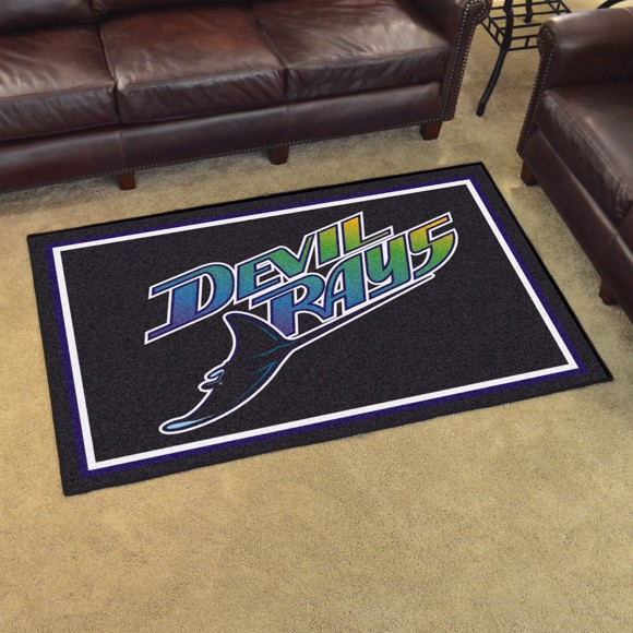 Picture of MLB - Tampa Bay Rays Retro 4x6 Rug