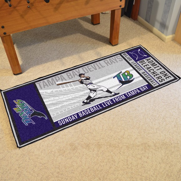 Picture of MLB - Tampa Bay Rays Retro Ticket Runner
