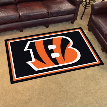 Picture of NFL - Cincinnati Bengals 4'x6' Plush Rug