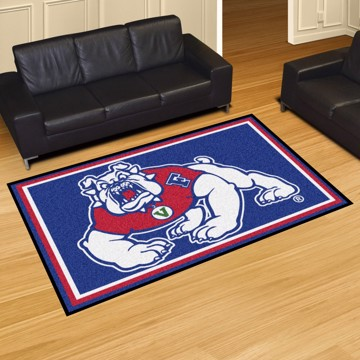 Picture of Fresno State 5x8 Plush Rug