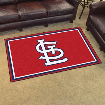 Picture of MLB - St. Louis Cardinals 4'x6' Plush Rug