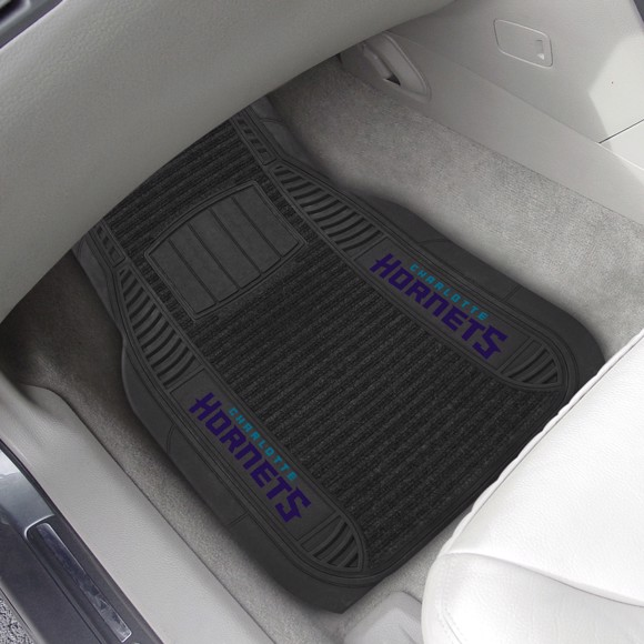 Picture of Charlotte Hornets 2-pc Deluxe Car Mat Set
