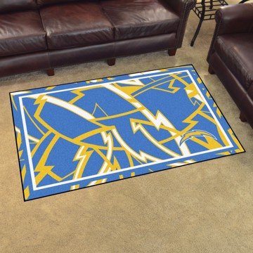 Picture of NFL - Los Angeles Chargers 4x6 Plush Rug