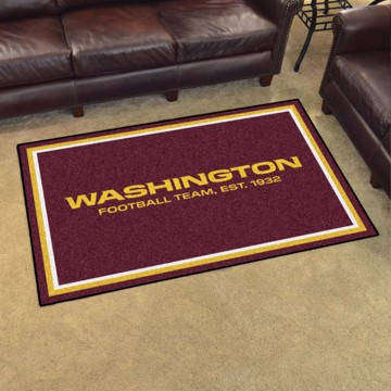 Picture of NFL - Washington Football Team 4'x6' Plush Rug