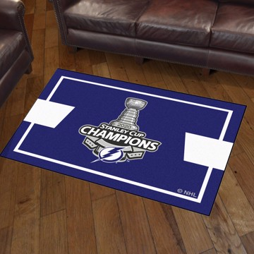 Picture of NHL - Tampa Bay Lightning 2020 Stanley Cup Champions 3x5 Plush Rug