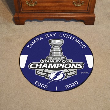 Picture of NHL - Tampa Bay Lightning 2020 Stanley Cup Champions Hockey Puck Mat