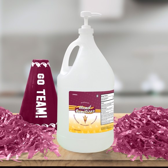 Picture of Arizona State 1 Gallon Hand Sanitizer with Pump Top