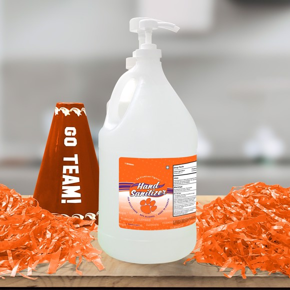 Picture of Clemson 1 Gallon Hand Sanitizer with Pump Top