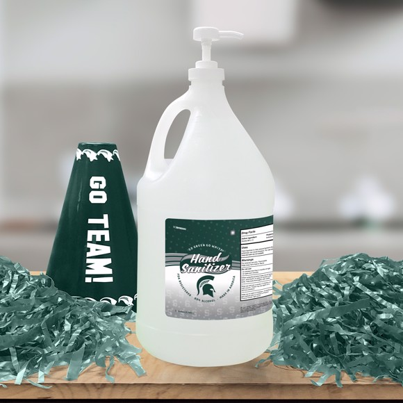 Picture of Michigan State 1 Gallon Hand Sanitizer with Pump Top