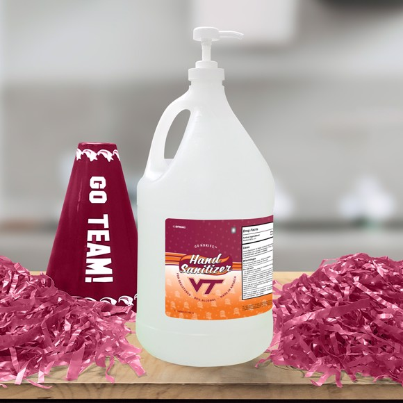 Picture of Virginia Tech 1-gallon Hand Sanitizer with Pump Top