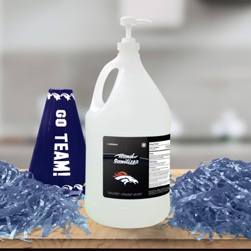 Picture of Denver Broncos 1-gallon Hand Sanitizer with Pump Top