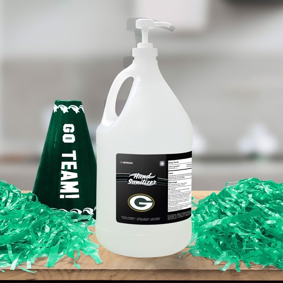 Picture of Green Bay Packers 1-gallon Hand Sanitizer with Pump Top