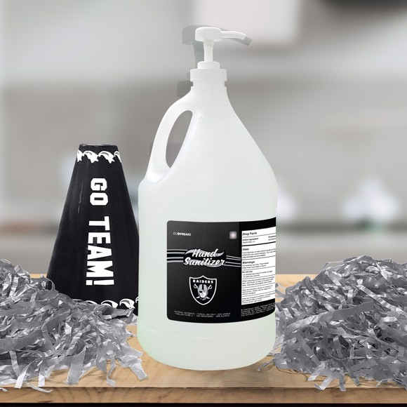 Picture of Las Vegas Raiders 1-gallon Hand Sanitizer with Pump Top