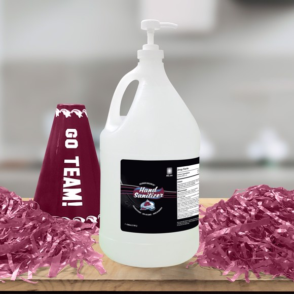 Picture of Colorado Avalanche 1-gallon Hand Sanitizer with Pump Top