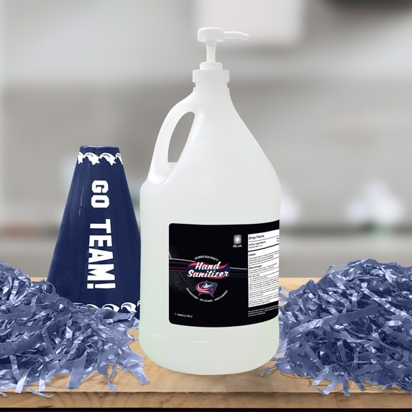 Picture of NHL - Columbus Blue Jackets 1-gallon Hand Sanitizer with Pump Top