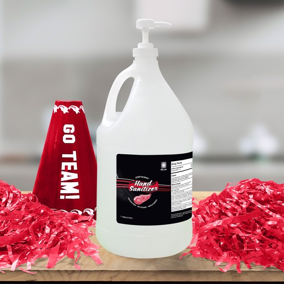 Picture of Detroit Red Wings 1-gallon Hand Sanitizer with Pump Top