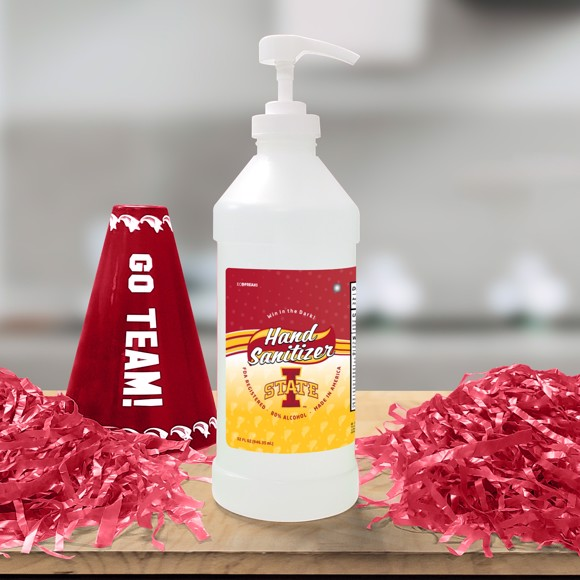 Picture of Iowa State 32 oz. Hand Sanitizer with Pump Top - 4 PACK