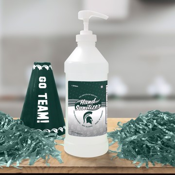Picture of Michigan State 32 oz. Hand Sanitizer with Pump Top - 4 PACK